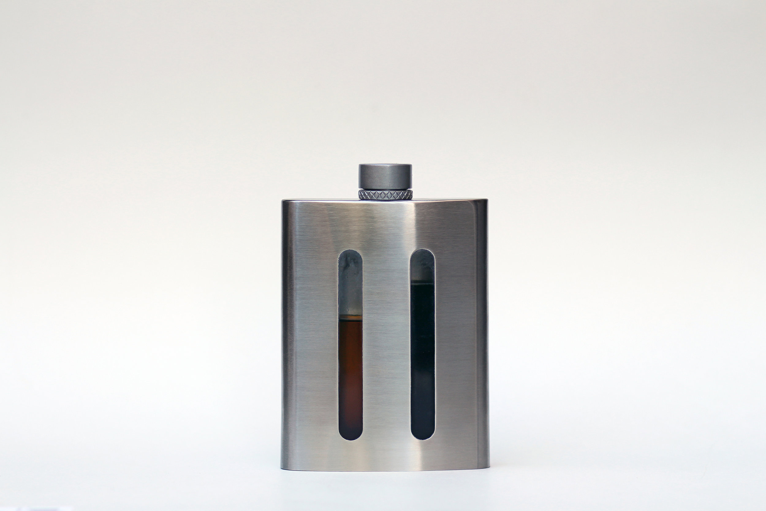 The World's first dual chambered hip flask