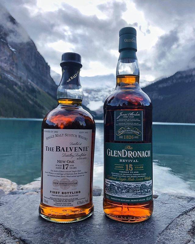 Pick your antidote 🥃🥃 📷 @knowyourwhisky  #whiskeylife #scotchwhisky #singlemalt #artofvisuals #theoutbound #mountaineers #creatorgrams #glendronach #balvenie