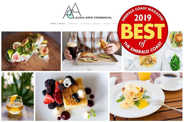 We are thrilled to share that we were voted BEST Photographer for 2019 ✨ Thank you to all our wonderful local clients throughout the years, to those who voted + to @emeraldcoastmag ! Hope to see you at the upcoming event...word is, we'll have a keg 🤘🏻 #alissaaryncommercial #bestofec #bestofemeraldcoast #emeraldcoastmagazine #sowal #30a