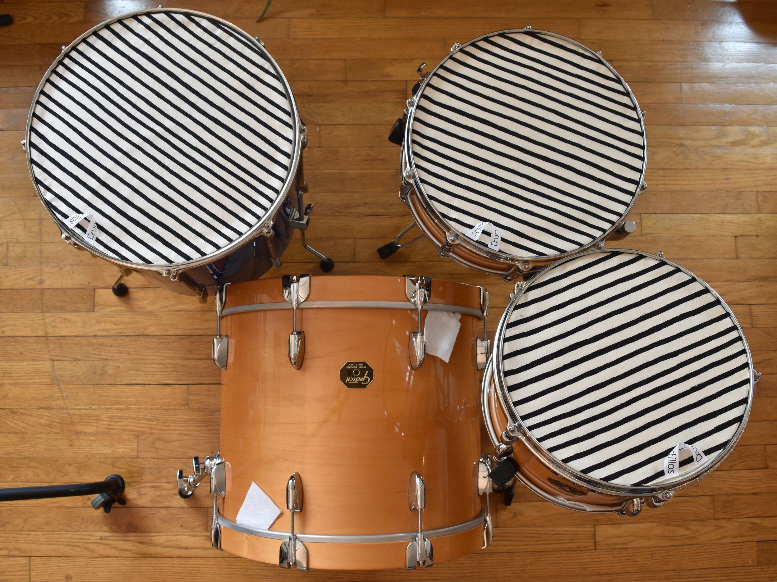 Black & Cream Stripe
