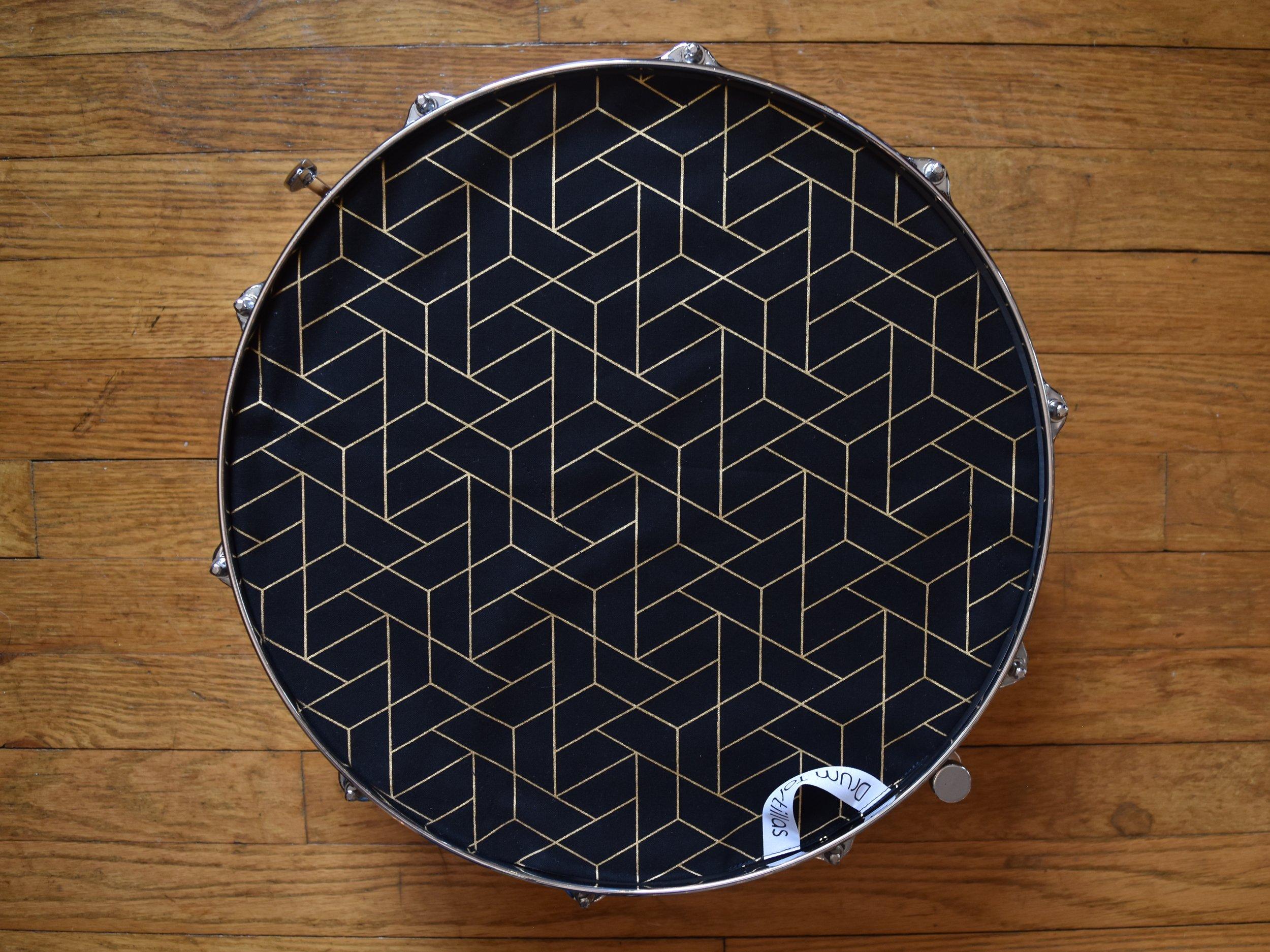 Black Geometric Honeycomb