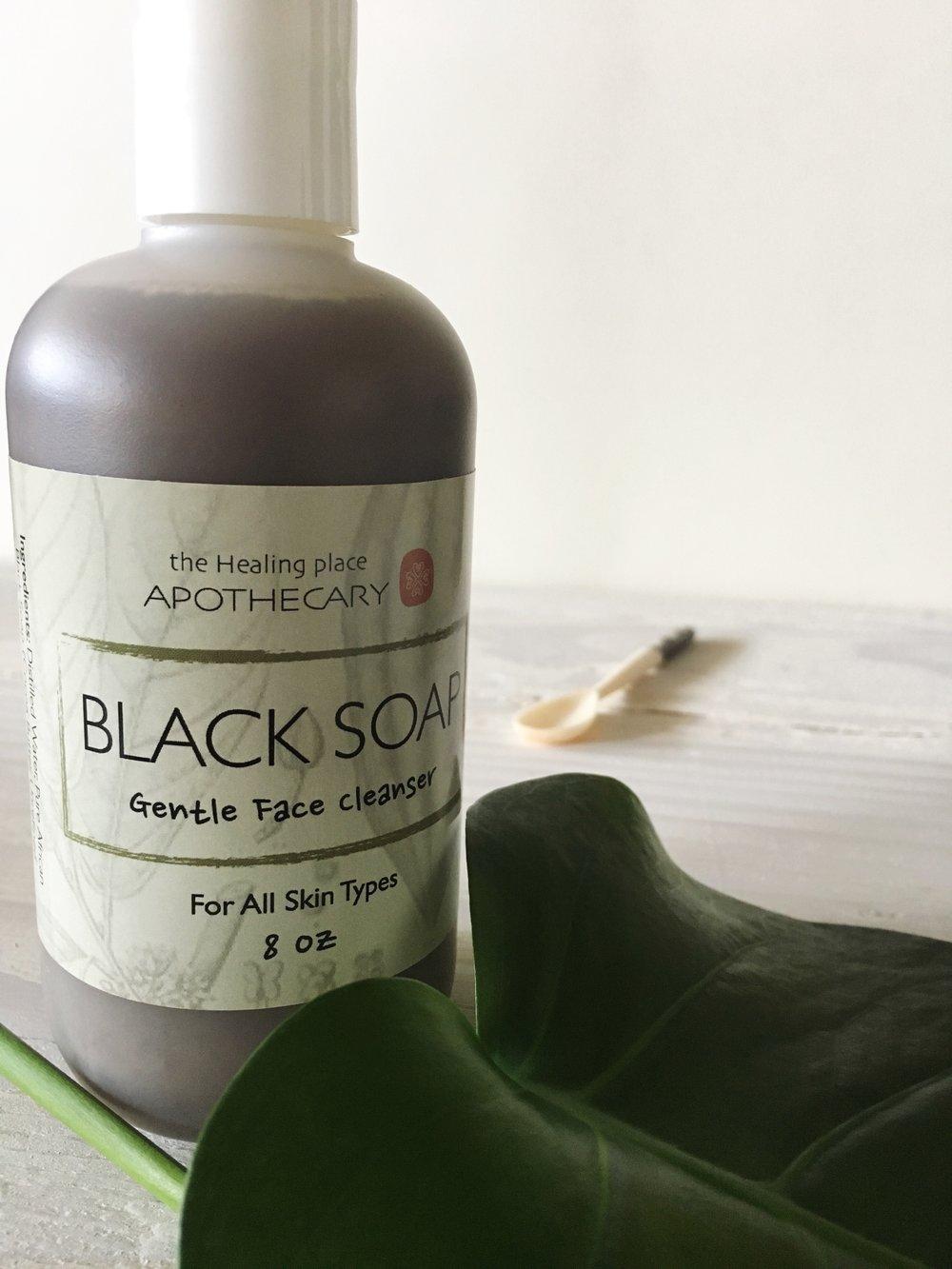 black soap for face