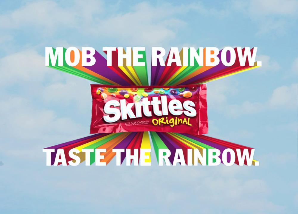 Skittles Mob the Rainbow