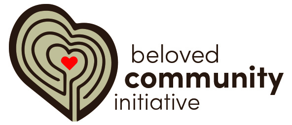 Beloved Community Initiative - This whole symbol is a heart,which is a representation of community and love.The unevenness of the heart represents how things are not fair and the justice we are fighting for.The lines represent a simplelabyrinth with the center being the safe space for conversation and change.
