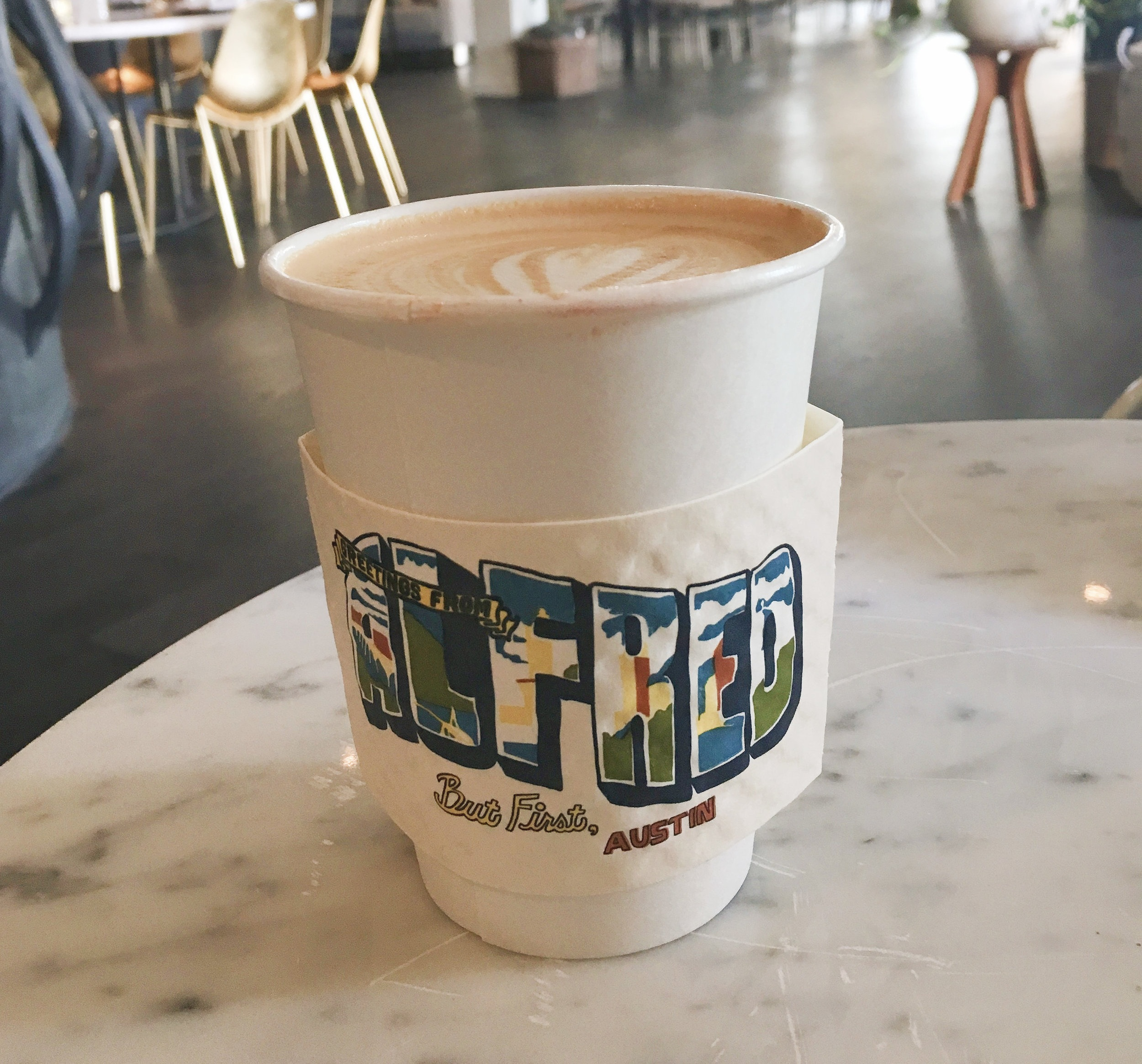 But first….Alfred Coffee! Located inside the beautiful The Line hotel.