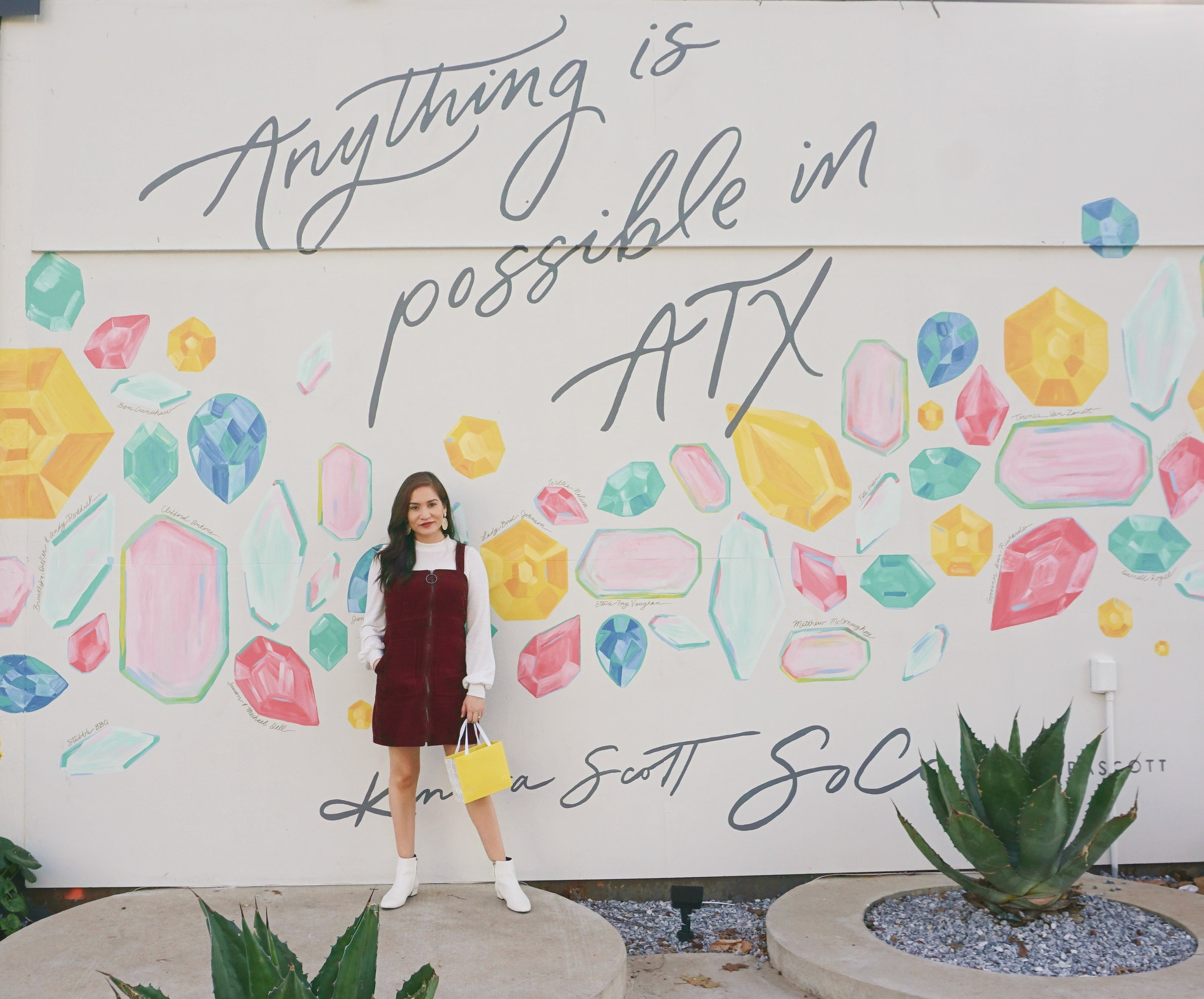 Snap a pic outside Kendra Scott's gorgeous new location that has an adorable cafe inside as well (still in SoCo).