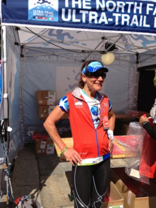 Pam honorably sporting her CCC finisher's jacket