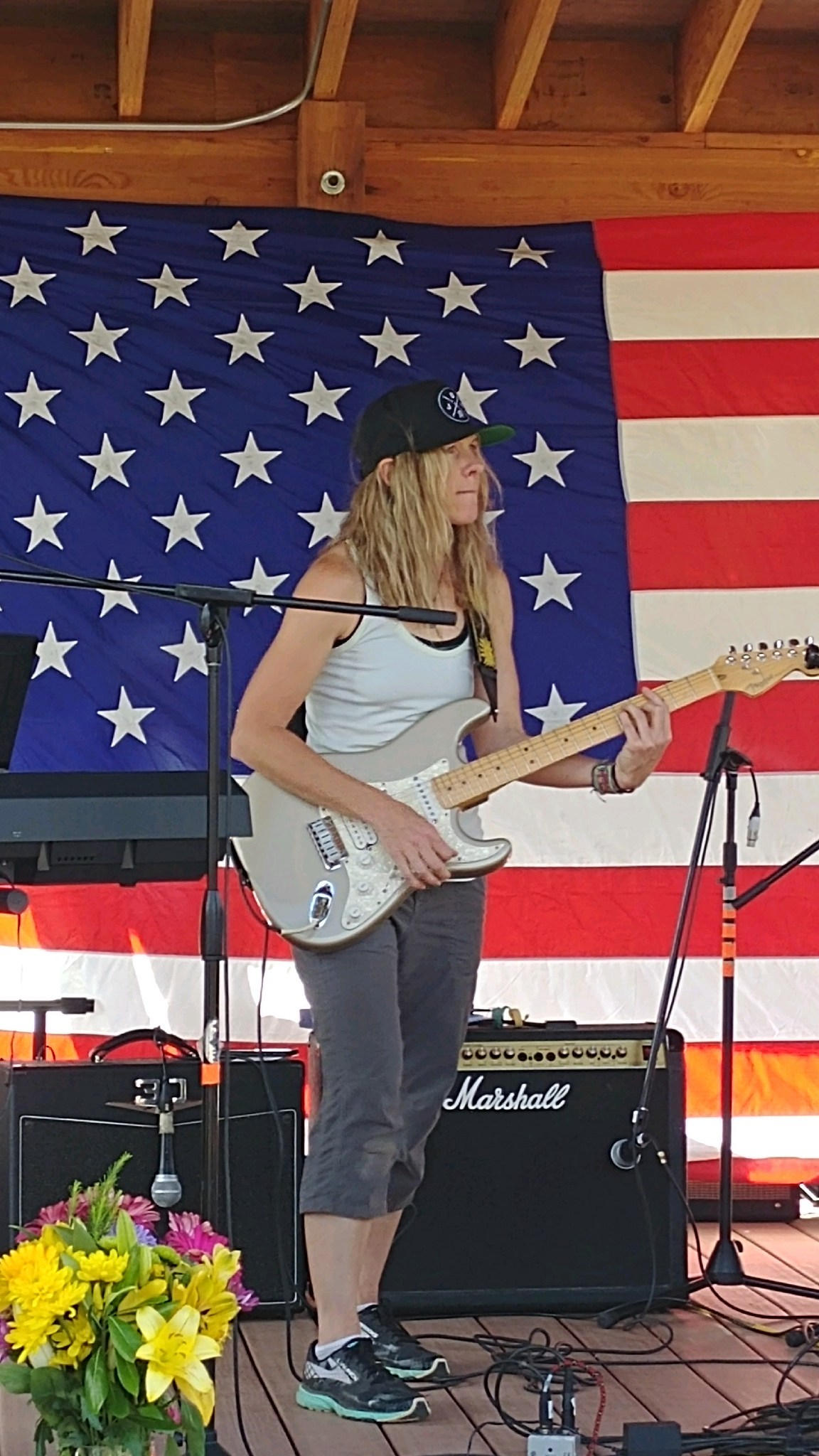 4th of July. Trying to channel Jimi Hendrix. That didn't work.