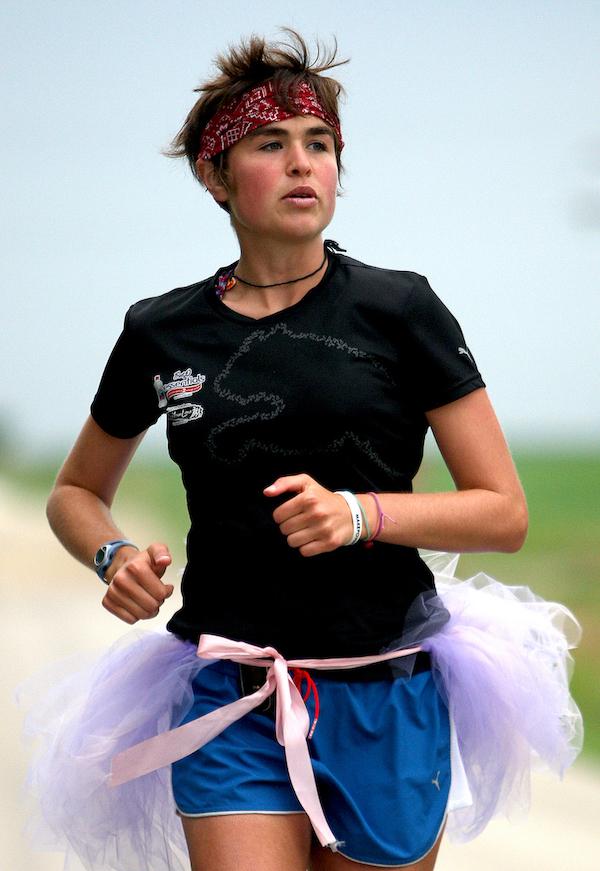 You can wear a tutu when you run across North America (2009)