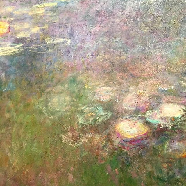 Luminous hues, delicate blending, and captivating gesture. I couldn't resist one more visit to Monet's water lilies. It was well worth the traffic and rain to spend a few more hours soaking in the dreaminess of these canvasses. . . . . . #monet #claudemonet #monetthelateyears #deyoungmuseum #deyoung #impressionism #impressionist #impressionistpainters #impressionistpainting #fineart #oilpainting #oilpaintings #painting #painter #painters #art #artist #artstagram #artistsofinstagram #bayareaart #bayareaartist #bayarealife #bayarea #bayareamuseums #sanfrancisco #sanfranciscoart #deyoungmuseumsanfrancisco