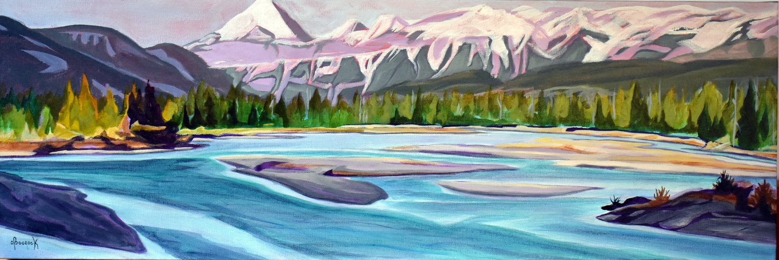 Morning Flow - Athabasca River Series