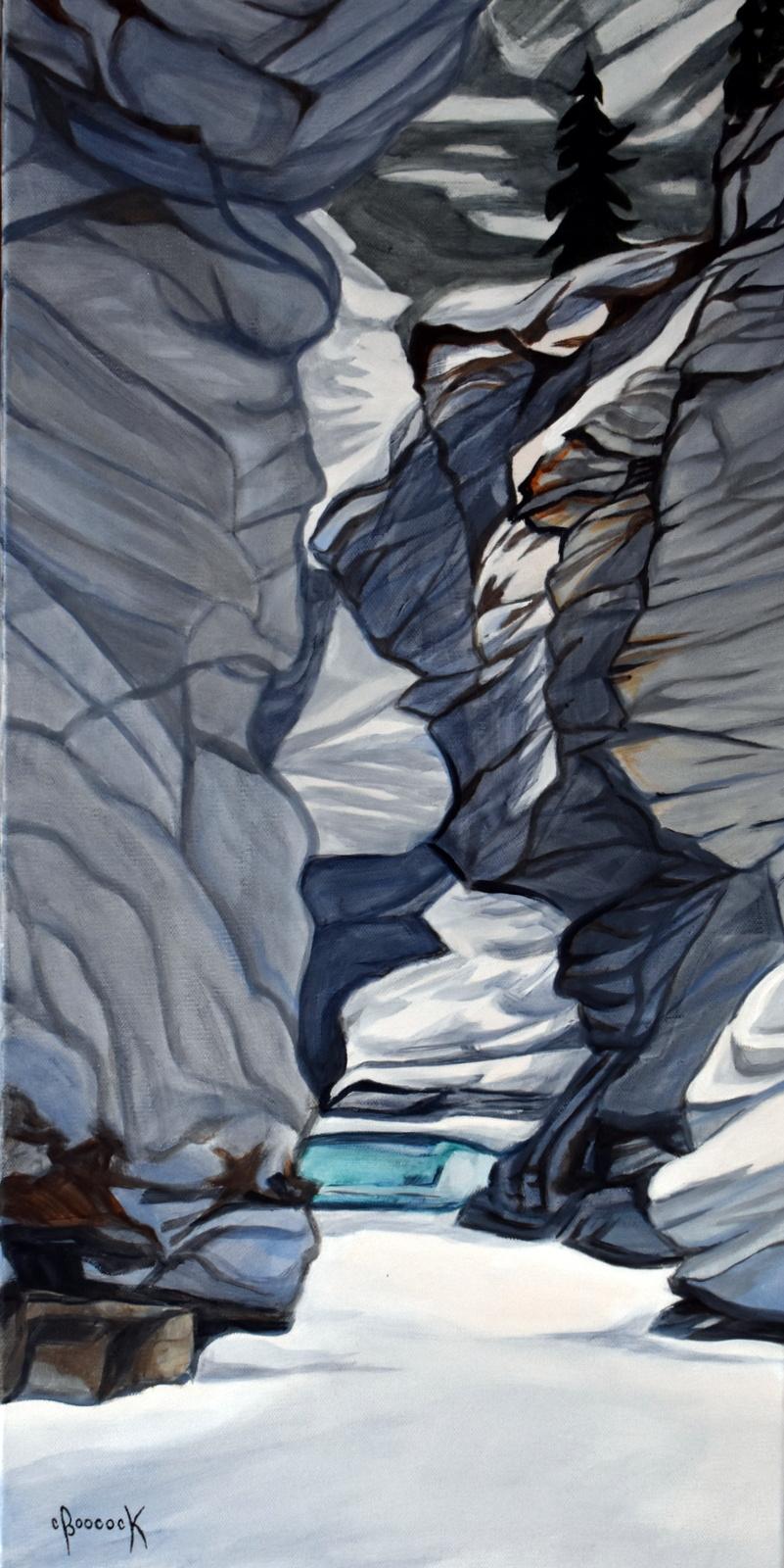 Lower Canyon II - Athabasca Falls