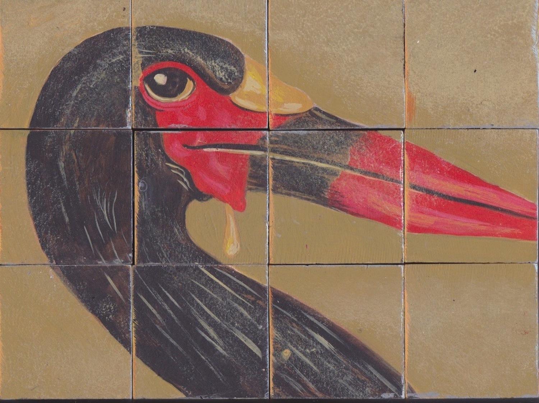Saddle-backed stork