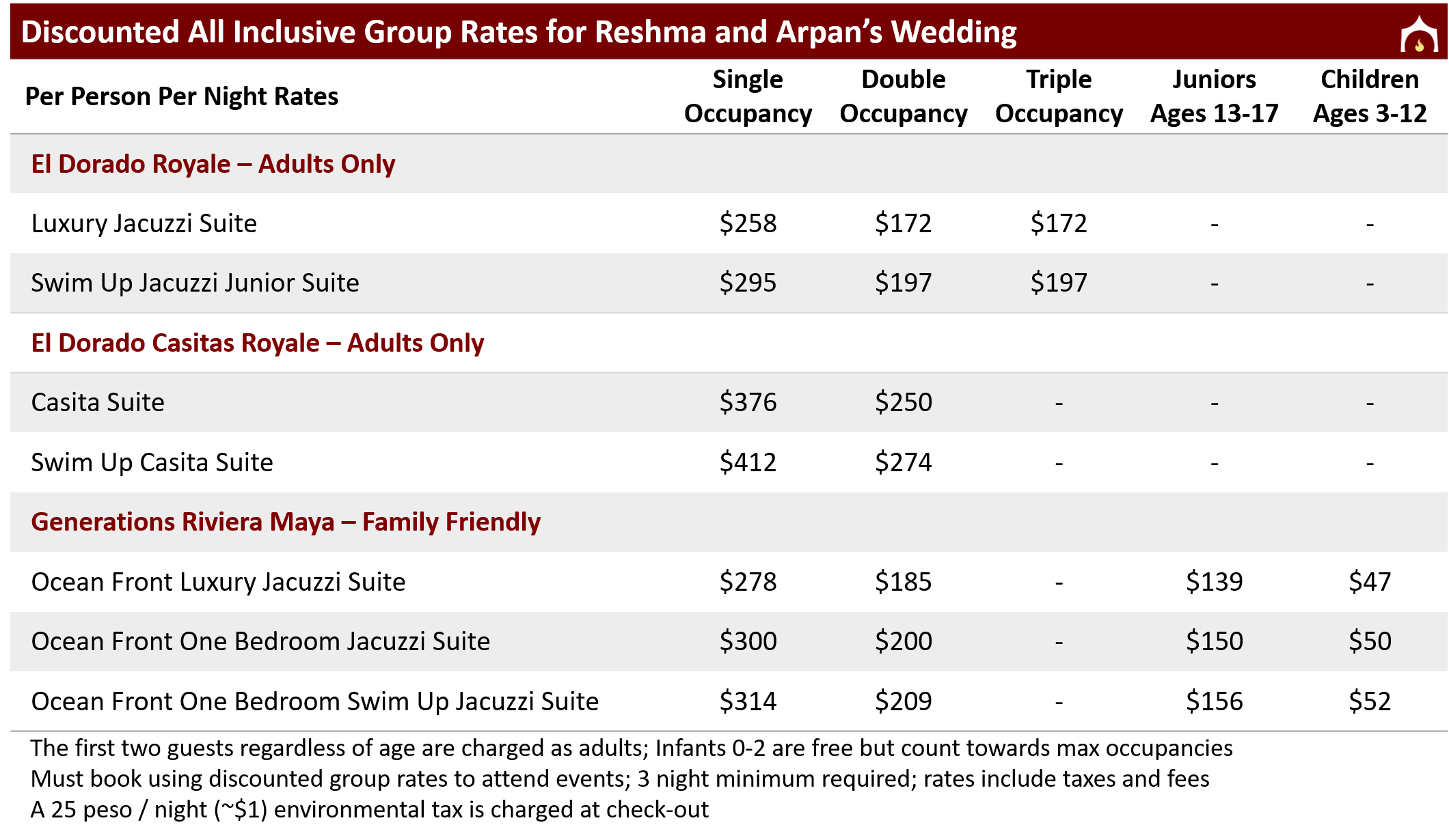 Discounted Group Rates for Reshma and Arpan's Wedding web.png