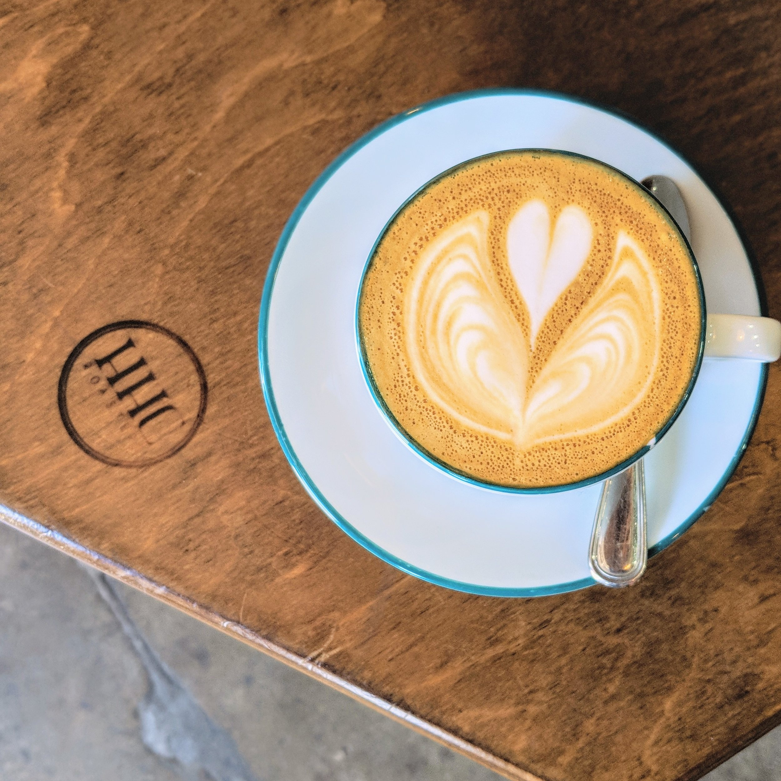 The HHC cap is a standard double-shot cappuccino with your choice of milk.