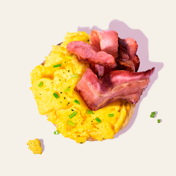 Scrambled Eggs & Middle Bacon