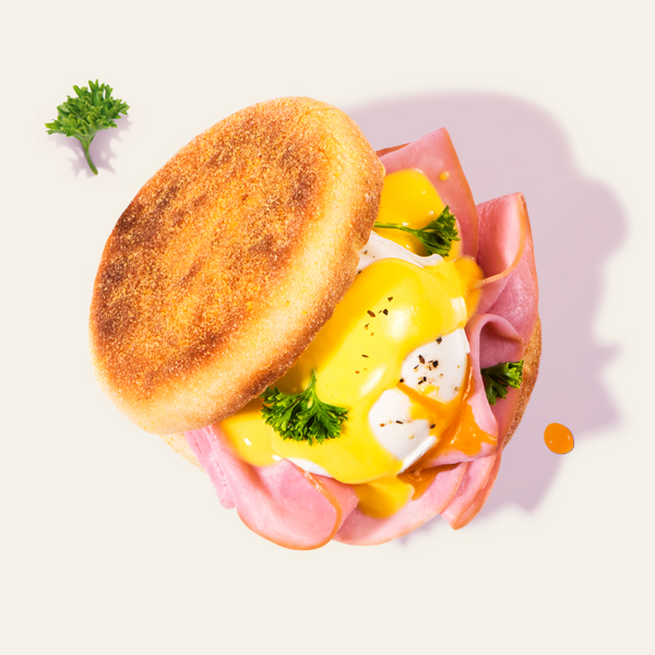 English Leg Ham & Egg English Muffin