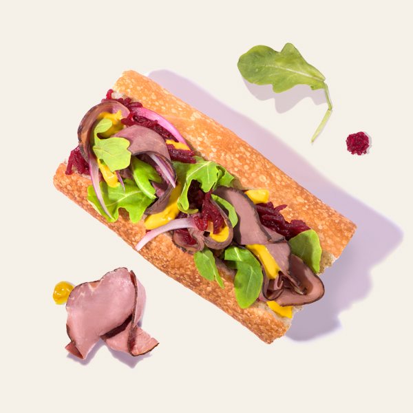 Classic Roast Beef Salad Roll