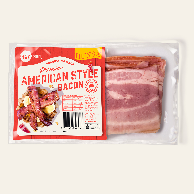 American Premium Style Bacon 250g