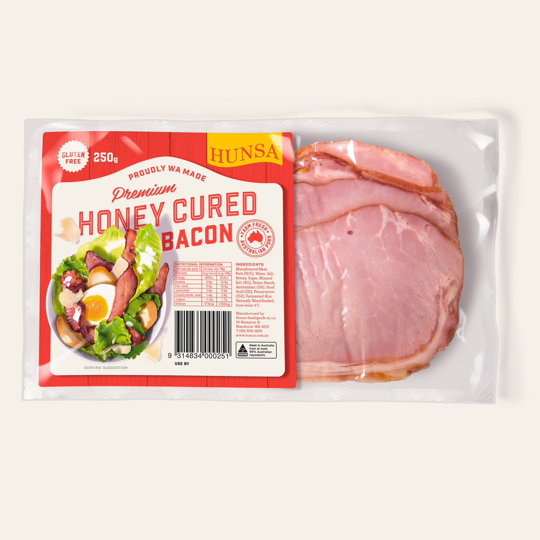 Honey Cured Bacon 250g