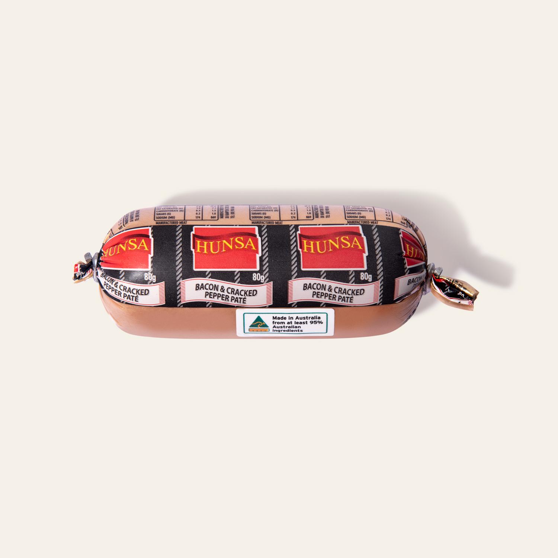 Hunsa Bacon Cracked Pepper Paté 80g