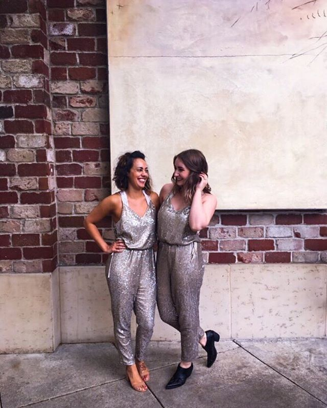 Friends that wear sequin jumpsuits together stay together . . . . . . #sequin #jumpsuit #sequinjumpsuit #fp #style #friendshipgoals #friendstyle #stylish #twinning #lifestyle #lifestyleblog #styleblog #outfit #outfitoftheday #outfitideas #outfitinspo #styleinspo #styleinspiration #outfitinspiration #fashion #fashionblogger #fashionblog