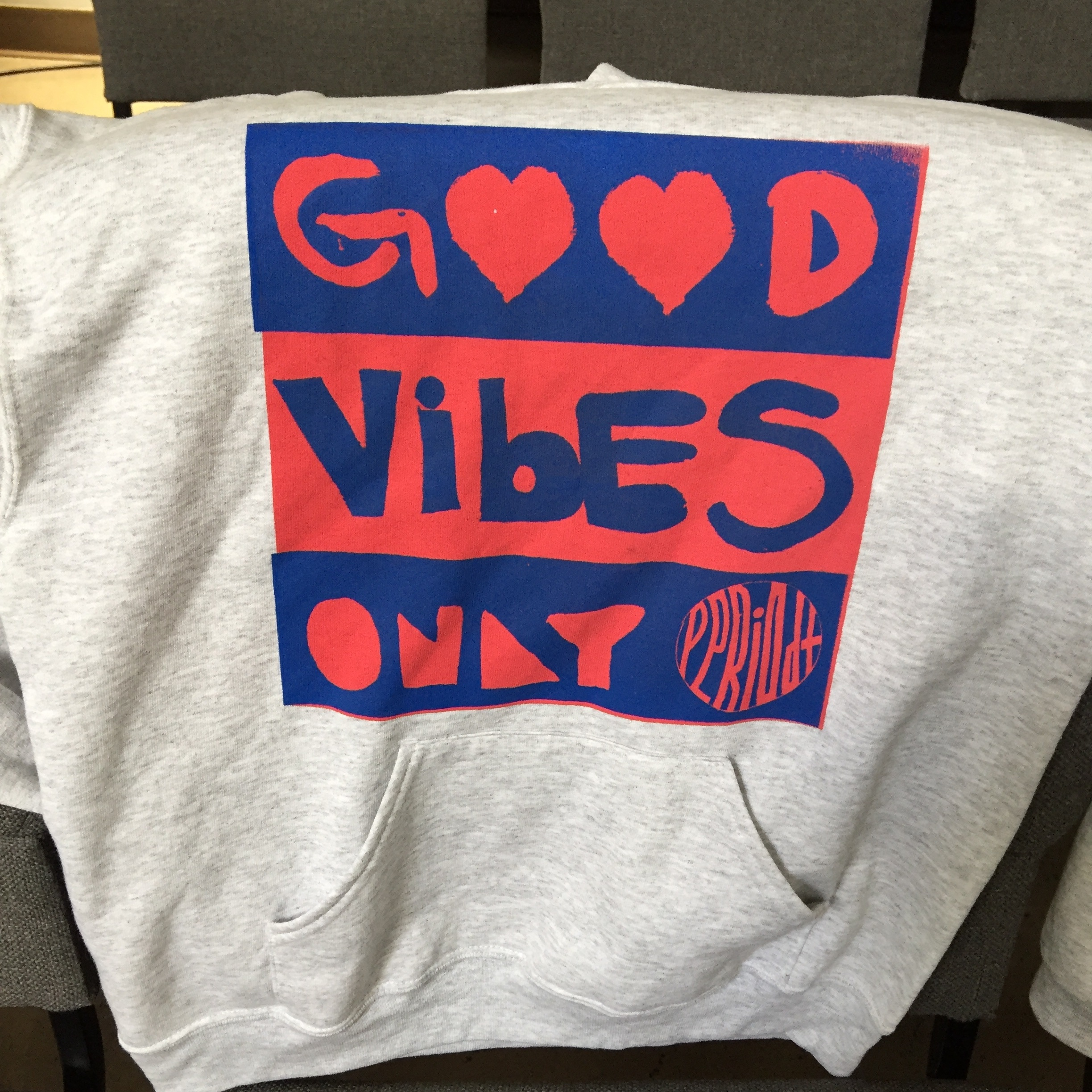 """Good Vibes Only $20 - Tired of drama? Negativity? R CITY Junior High youth were too! This spring they created our """"Good Vibes Only - Periodt"""" design to show how they wanted to live: focused on the positive!"""