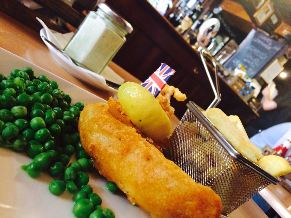 The best fish, at The White Horse, Oxford