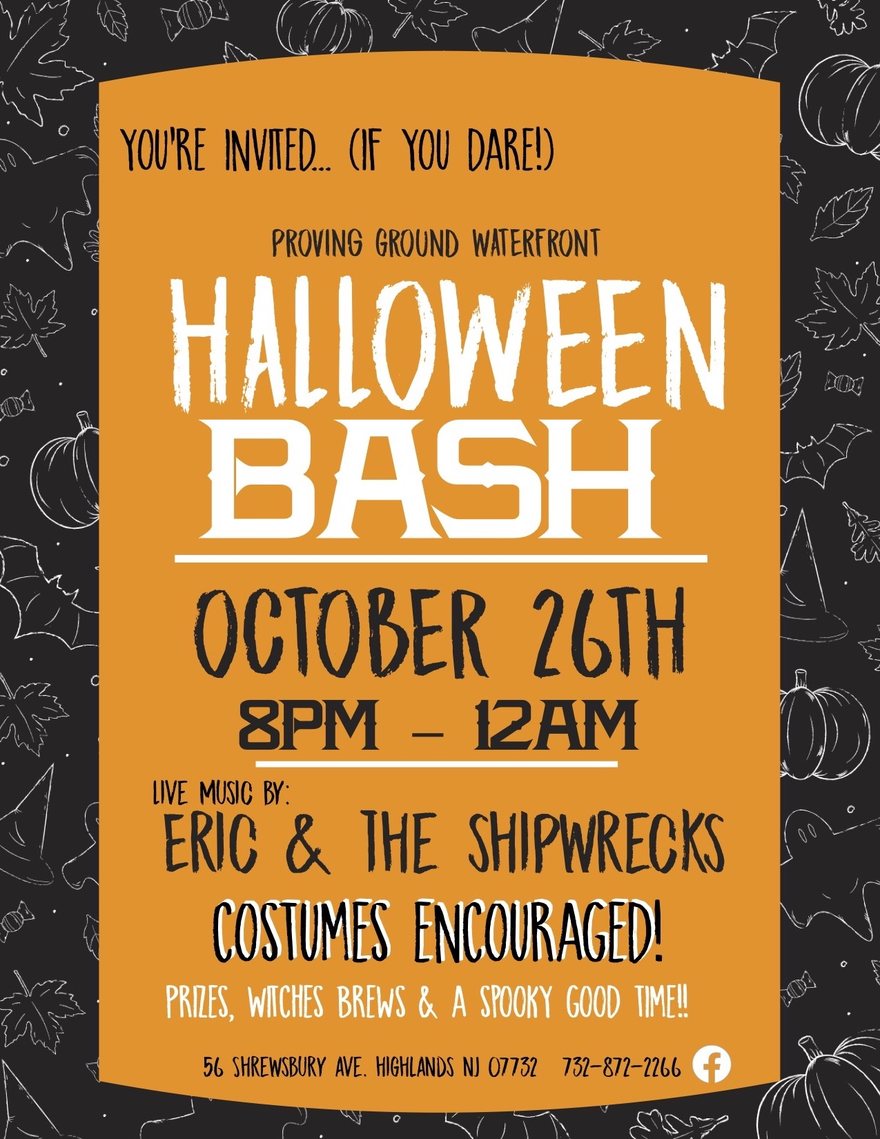 Costume Contest! Drink Specials... witches brew, caldrons, BOOze & more!!