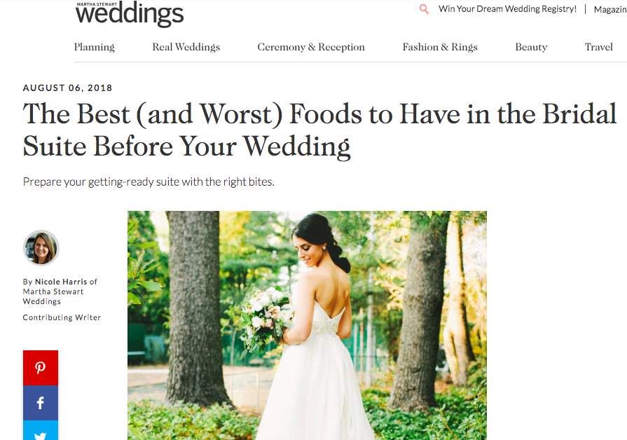 What to eat before the wedding