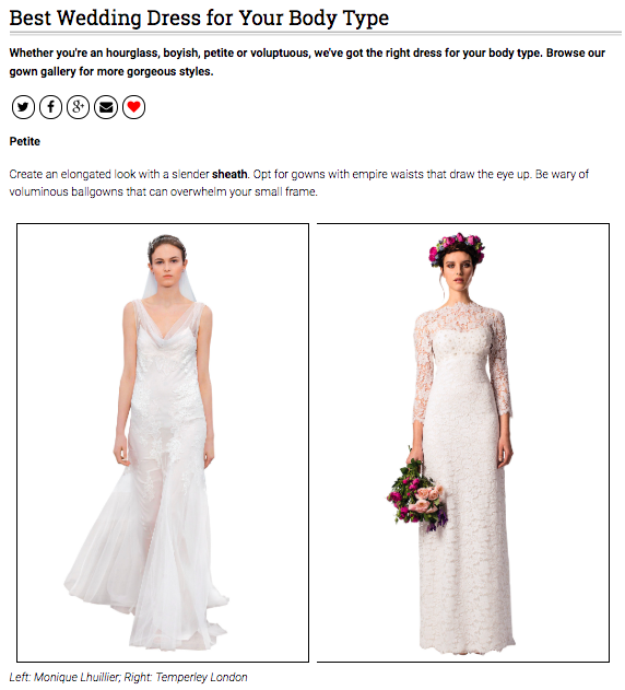 Bridal Guide Wedding Dress for Your Body Type