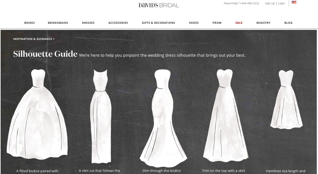 David's Bridal Wedding Dress by Body Type Guide