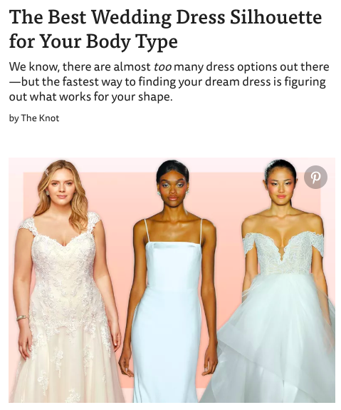 TheKnot's guide to best wedding dress by body type