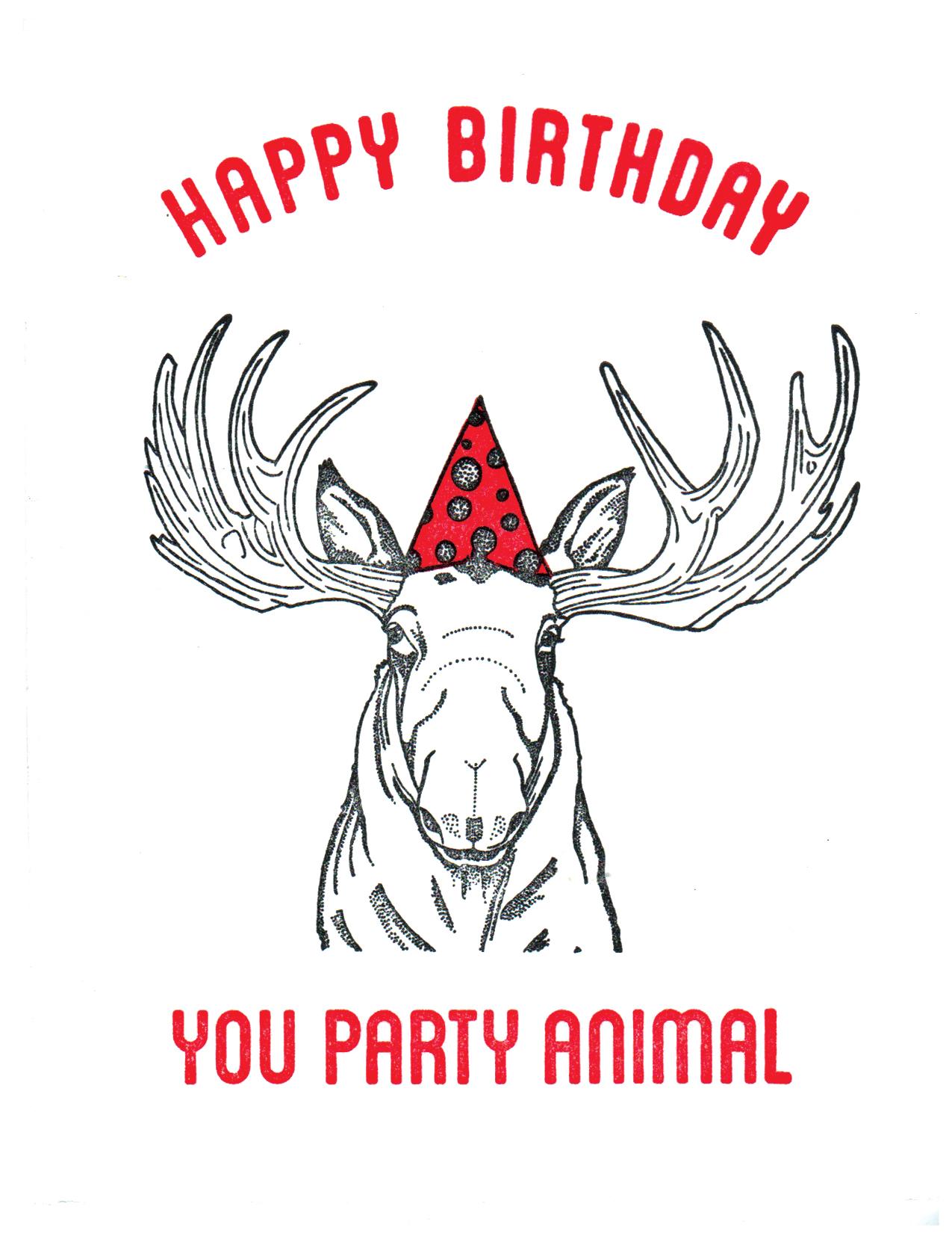 Party Animal - Moose Print
