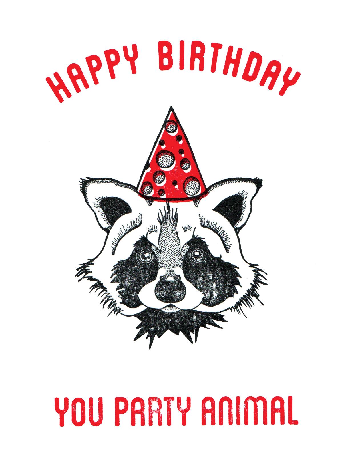Party Animal - Raccoon Print
