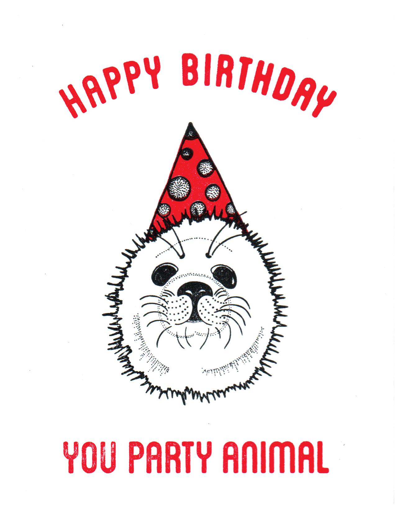 Party Animal - Seal Print