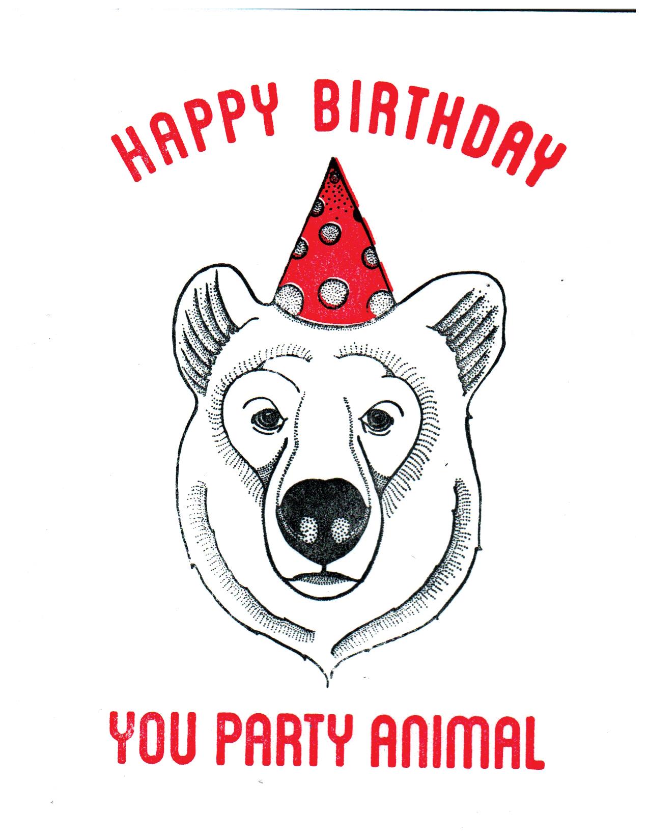 Party Animal - Bear Print
