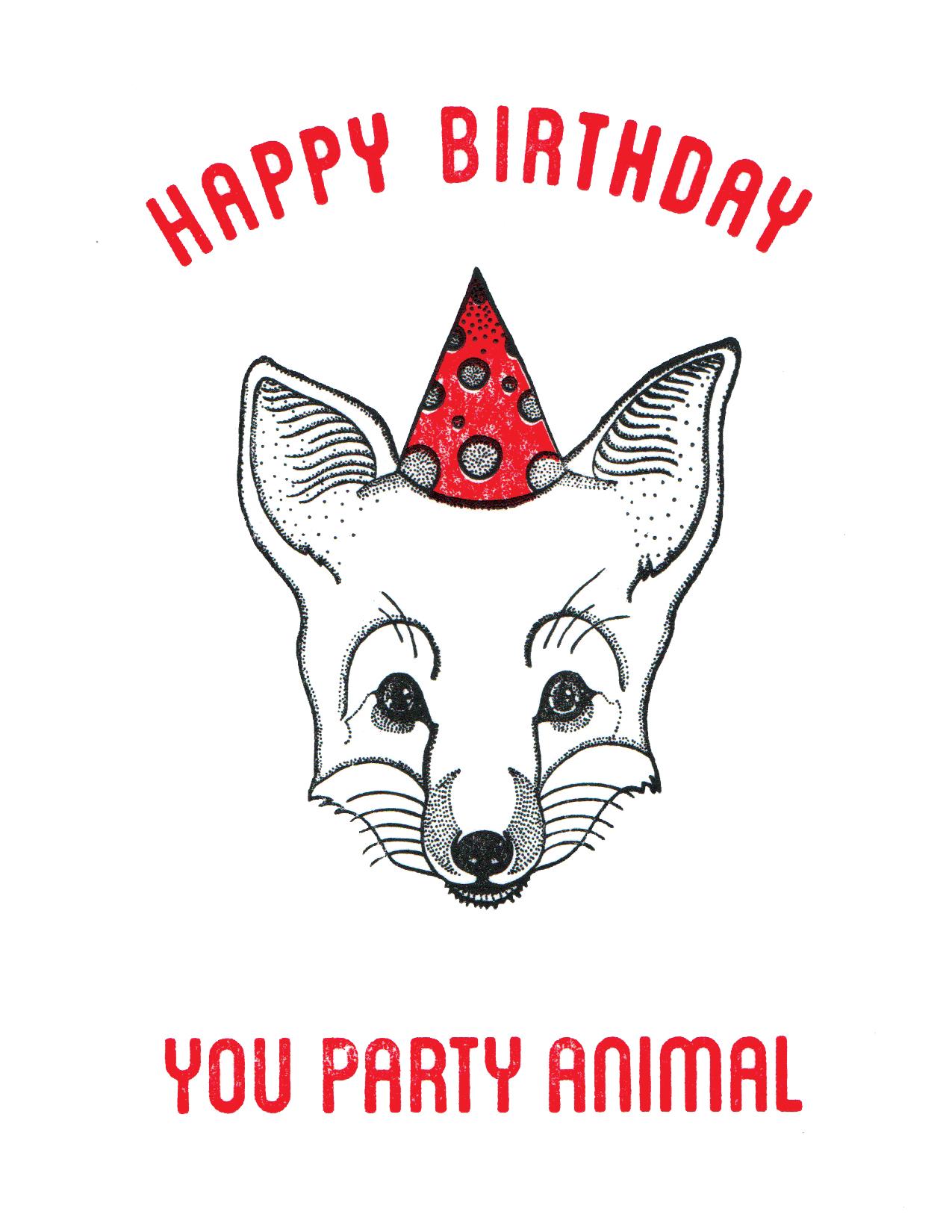 Party Animal - Fox Print