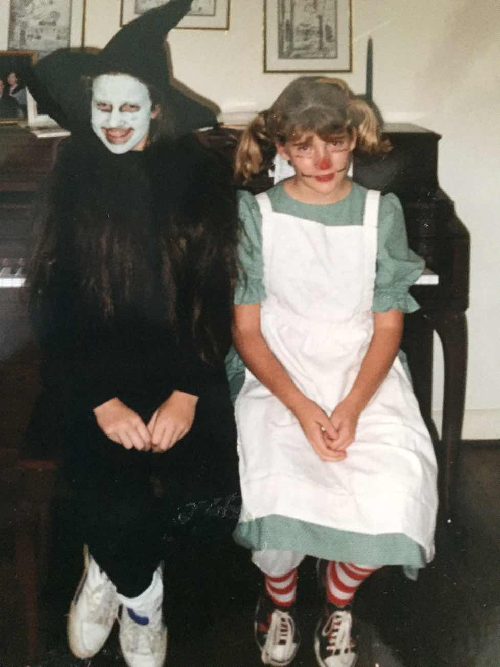 Shaving at 10 and 11 years old? You are probably wondering, were these girls precocious, popular types in middle school? Yes. The answer is yes. This is us in 6th grade as a sexy witch and a sexy Raggedy Ann for Halloween.