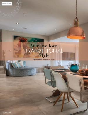 Why We Love Transitional Style | Society Magazine