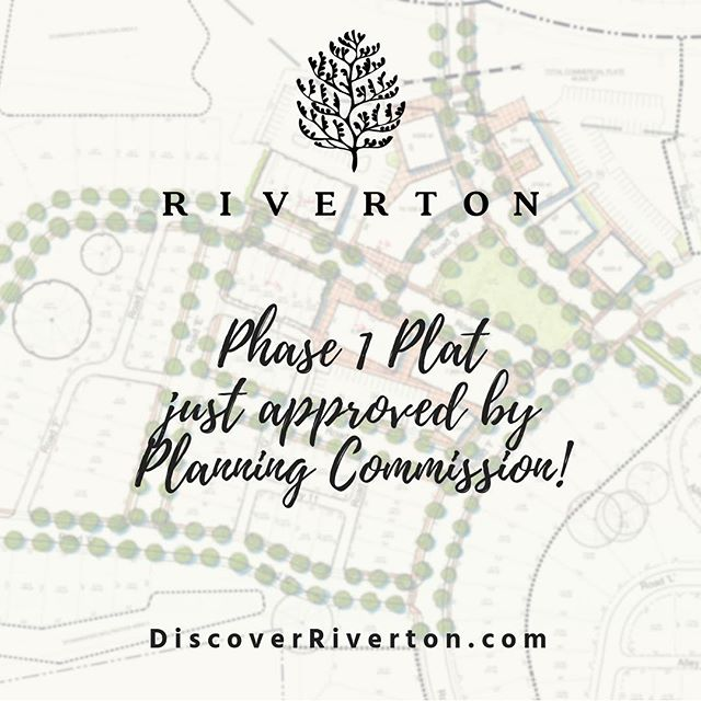 Exciting news! Phase 1 plat has been approved by the Planning Commission! | #discoverriverton #masterplannedcommunity #newurbanism #onthetnriver #fivemilesfromdowntown #chattanooga