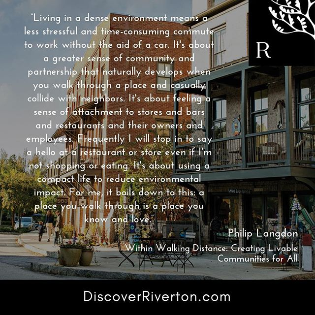 A community designed for a living. | #discoverriverton #newurbanism #reconnect #masterplannedcommunity #onthetnriver #fivemilesfromdowntown
