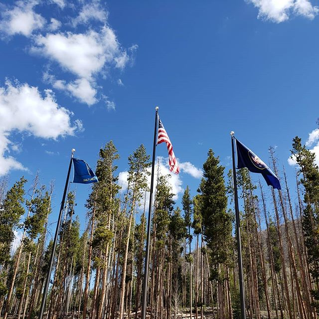 June means camp!  And what a beautiful day it is to be at camp 👍  #boyscoutsofamerica #saltlakescouts #camp #summer #highadventure #backpacking #canoeing #fun #summercamp #eastforkscouts #flags #america #americathebeautiful #oldglory