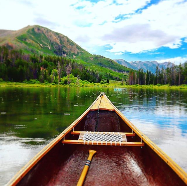 "Hard to beat this view at Hinckley Scout Ranch. 📸: @oldshovel_ ""The canoe is done and tested... and it didn't sink 😁 despite all the rain. Video coming soon. At Hinkley Scout Ranch""  #BoyScoutsOfAmerica #BoyScouts #GSLCScouts #SaltLakeScouts #ScoutMeIn #BeAScout #SummerCamp"