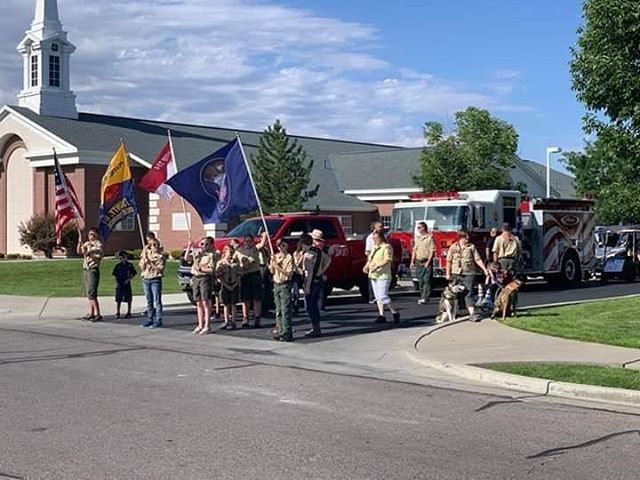 Troop & Pack 314 presenting the colors and leading the parade at Stansbury Days.  #boyscoutsofamerica #saltlakescouts #scoutingmatters #scoutmein #scoutsbsa #cubscouts #flag #americathebeautiful