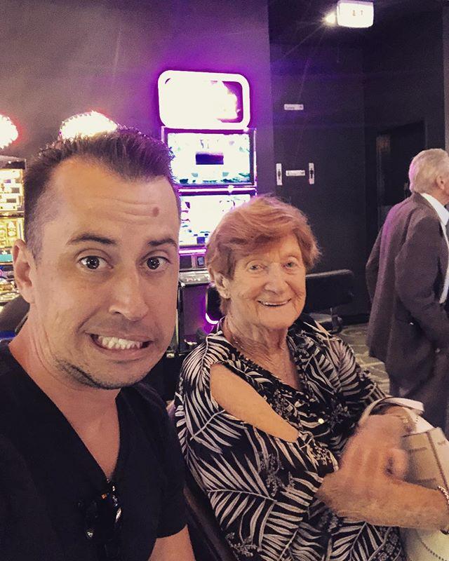 I guess you could say, we both love a poke 👉🏽 Happy Birthday Grandma 🎈  #Poke #LikeGrandmaLikeGrandson