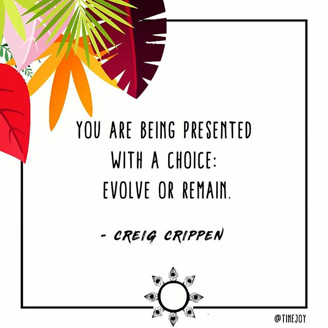 """You are being presented with a choice: evolve or remain. If you choose to remain unchanged, you will be presented with the same challenges, the same routine, the same storms, the same situations, until you learn from them, until you love yourself enough to say ""no more"", until you choose change. If you choose to evolve, you will connect with the strength within you, you will explore what lies outside the comfort zone, you will awaken to love, you will become, you will be. You have everything you need... ""  Follow 👉🏽 @tinejoy Blog 👉🏽 eclectiksol.com Hashtag 👉🏽 #eclectiksol . . . #plantlife #designs #designinspo  #lifestylebloggers #designbloggers #sanfranciscobloggers #sfbayarea #design #sanfrancisco #designersofinstagram #cultureandlifestyle #quotesdaily #quotestoliveby #inspirationalquotes #freepikuniverse #freepik #quoteoftheday #motivationalquotes #inspiredaily #wordstoliveby #greatquotes #evolve #choices #remain #creigcrippen  _  Plantlife illustration by @freepik : 4x4 Sq design by yours truly, Christine Joy Ferrer #eodesigns #eyesopened #eclectiksol"