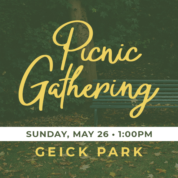 Sun, May 26th at 1:00pm - Potluck Picnic