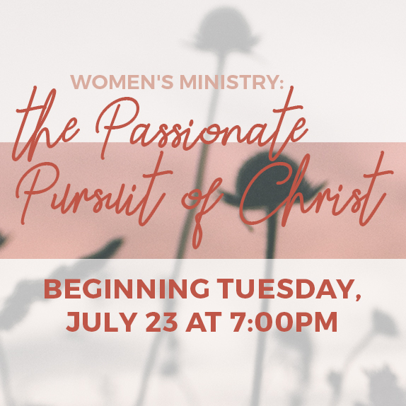 Beginning Tuesday, July 23rd at 7:00pm - No Registration Needed