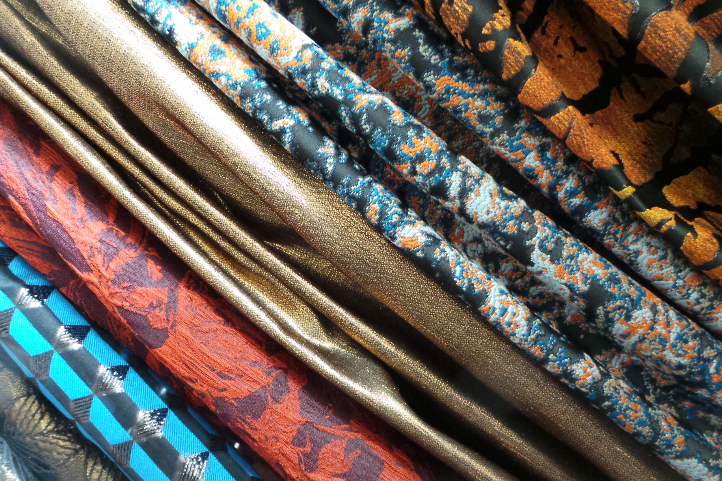 The Prestigo Collection - Our Famous Luxury Cloque and Jacquard range of Textiles.